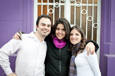 Sesión de fotos de Romina y Víctor, con Adriana Carolina y Socias Make Up!