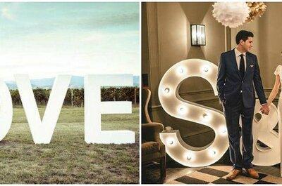¡Dilo en Grande! Ideas divertidas para decorar tu boda usando maxi letras