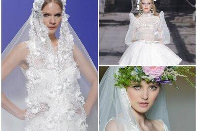 Trends 2015 für die Hochzeit: Brautschleier und Kopfschmuck