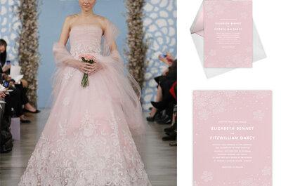 Elegantes invitaciones de boda 2013 de Oscar de la Renta