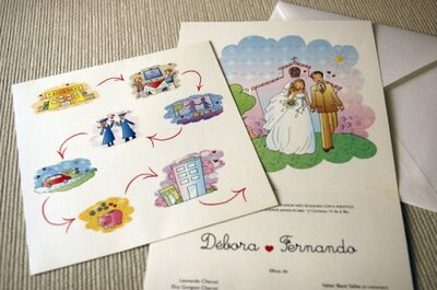 Coloque cor no seu convite de casamento
