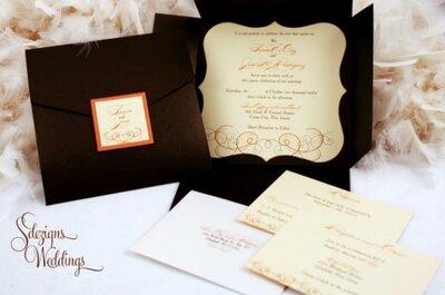 Invitaciones muy originales, chic y vintage