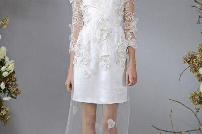 Naturaleza tejida: Estos son los vestidos de novia más lindos con flores en relieve