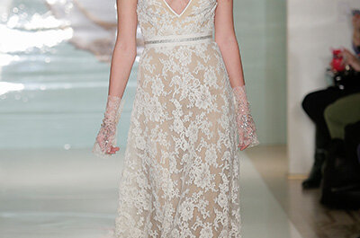 Suknie ślubne 2015: Reem Acra- NY Bridal Week
