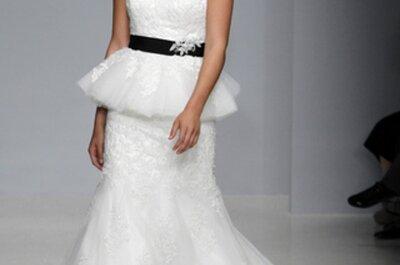 La tendencia en vestidos de novia con doble falda