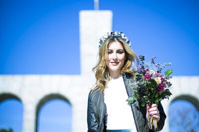Una novia rebelde: un look rockero y atrevido para tu boda