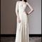 Vestido de novia silueta columna con cuello ilusión y mangas largas para Pre Fall 2014 - Foto Temperley