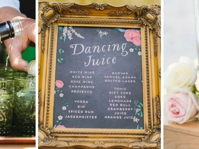 A cocktail wedding reception: Surprise your guests with these unique drink ideas!