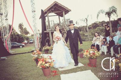 Cerimônia de casamento circense
