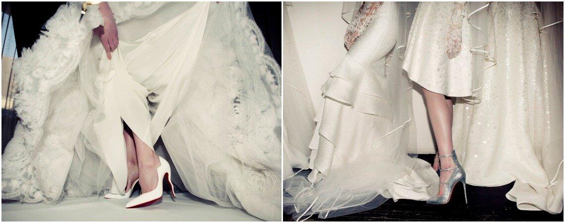 Christian Louboutin chausse les mariées de Marchesa, Jenny Packham et Naeem Khan pour la Bridal Fashion Week