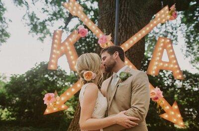 Como usar letreiros luminosos no seu casamento: do altar à pista de dança!