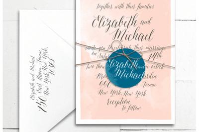 Tendencia en papel: Invitaciones de boda con estilo contemporáneo
