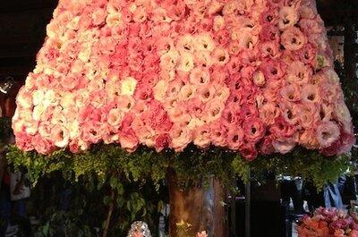 O rosa é a segunda cor das noivas