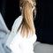 Peinado de novia con coleta 2017.
