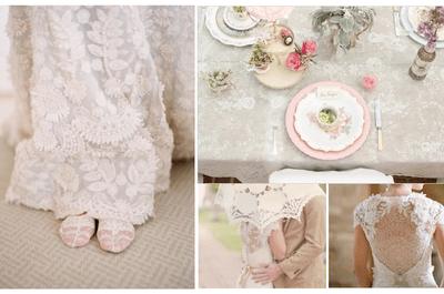 El refinamiento del encaje de principio a fin en tu boda: Déjate conquistar por este hermoso textil en tu día