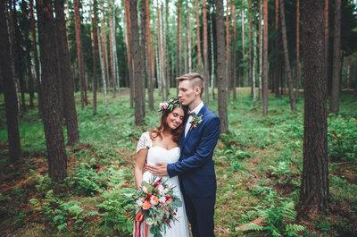 Лесная история любви: романтичная свадьба Андрея и Нины