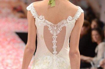 Vestidos de novia con escote en la espalda Claire Pettibone