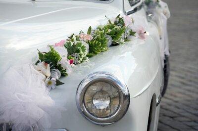 Las mejores ideas para decorar tu auto de novios con increíbles acentos vintage