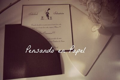 Las más lindas invitaciones de boda, by Pensando en Papel