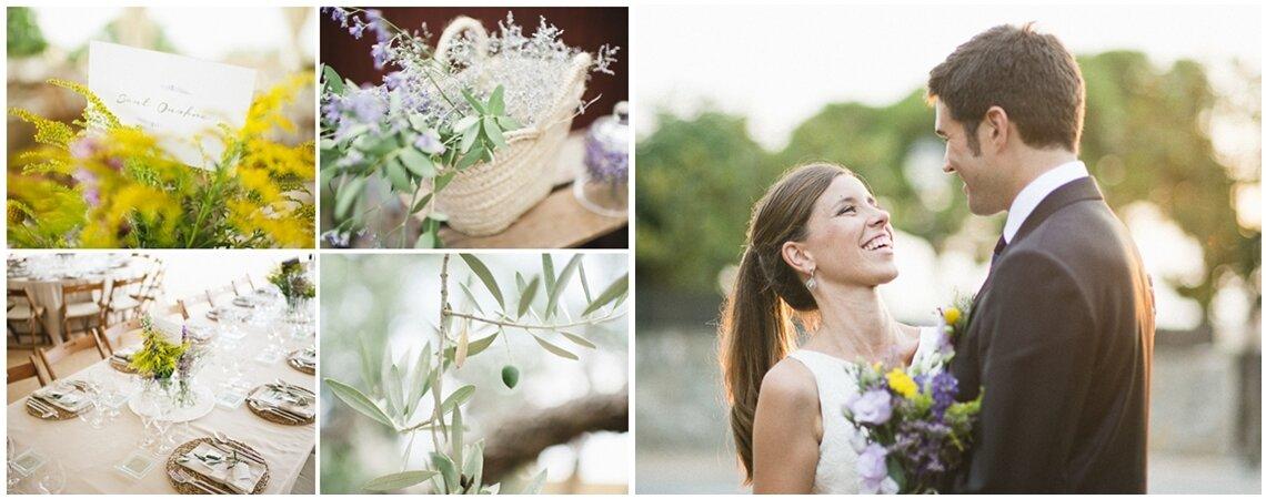 Olivos y lavanda: la preciosa boda de Carol y Tati