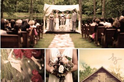 Collage de inspiración para decorar una boda de día