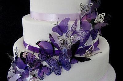 Torty ślubne z motylami