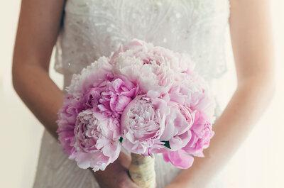 Románticos diseños de ramos de novia con peonias 2017. ¡La mejor opción!