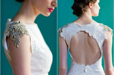 Papel e brilhantes: um vestido de noiva Carol Hannah 2013