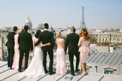 #WeLoveParis : 5 photos de mariage incroyables prises sur les toits de Paris