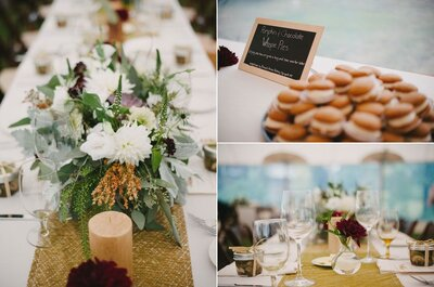 Decoração de mesa de casamento para o inverno