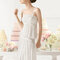 Plisiertes Hochzeitskleid mit besticktem Dekolleté und Hüftband von Aire Barcelona 2015, ODESA.