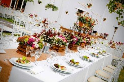 El estilo de tu matrimonio: ¿Mesas redondas, cuadradas o rectangulares?