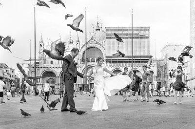 Valério e Andrea: Veneza é o cenário para a renovação de 30 anos de amor!