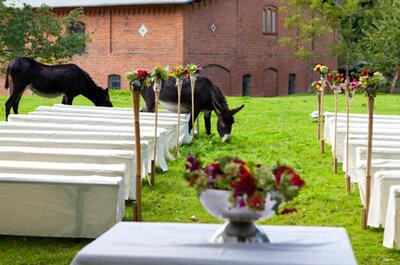 Heiraten im Sommer - Hochzeit auf dem Bauernhof
