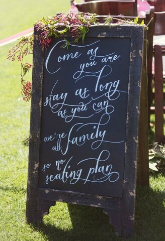 Keep your wedding guests informed with some rustic signage!