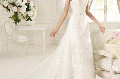 Selección de 7 vestidos de novia con mangas para 2013