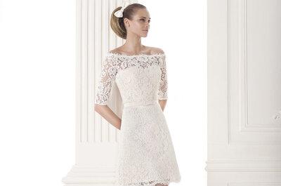 Vestidos de noiva curtos 2015: Atrevidas e confiantes assim são as noivas que escolhem estes vestidos!