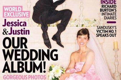 Justin Timberlake and Jessica Biel's Wedding Photo Revealed: She Wore a Pink Wedding Dress!