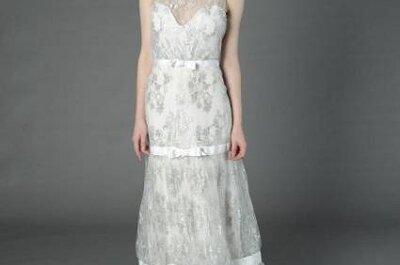 Romantische Brautkleider mit Blumenapplikationen – Variationen aus den Kollektionen 2013