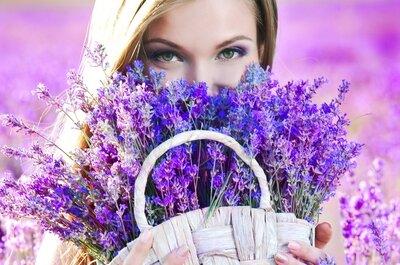 Dulces violeta y blanco para tu boda: una combinación ganadora