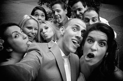 Hoe leuk kan een bruiloft zijn: deze grappige trouwfoto´s mag je niet missen!