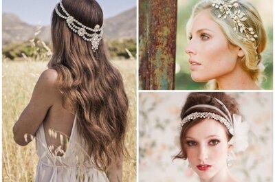 Trendiger Haarschmuck für Bräute