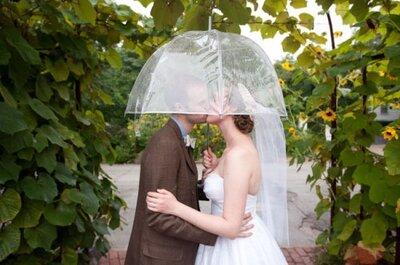 Paraguas para novias, mucho más que una ayuda contra la lluvia