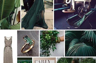 El color verde y su máxima elegancia: Una decoración de boda con ornamentos perfectos
