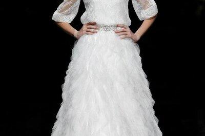 Um vestido de noiva Pronovias 2013 com um certo ar Anne Hathaway