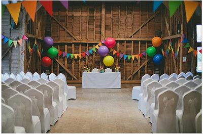 Detalles únicos para una boda multicolor