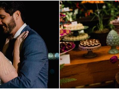Casamento rústico multicolorido de Alice & Victor no Rio de Janeiro: doces e cores inesquecíveis!