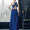 Vestido 8T2A2 Rosa Clará Fiesta 2015 azul marino con espalda escotada.