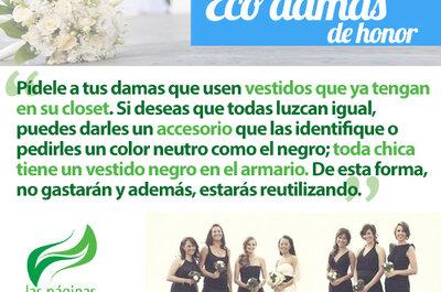 Eco damas para una boda sustentable y ecofriendly