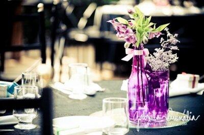 Colorindo vidros com verniz vital para a decoração do seu casamento